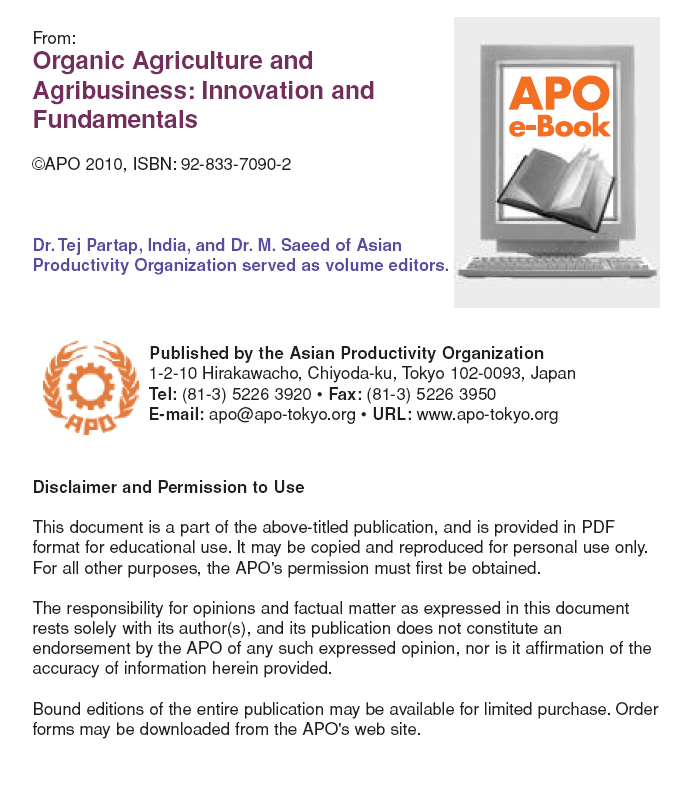 Organic Agriculture and Agribusiness: Innovation and Fundamentals